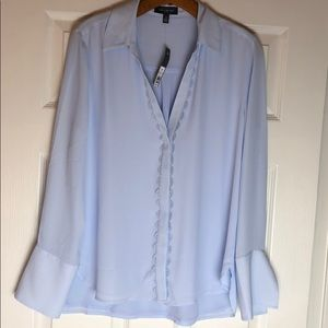 THE LIMITED Blue Blouse Size Medium
